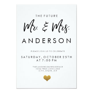 The Future Mr. and Mrs. Engagement Party Card