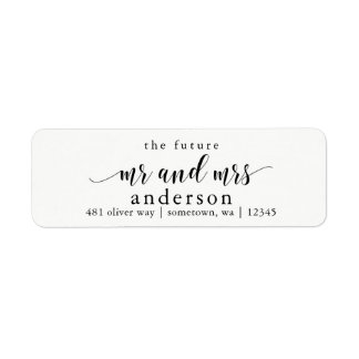 The Future Mr and Mrs Glyph Return Address Labels