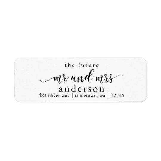 the future mr and mrs glyph return address labels zazzle com