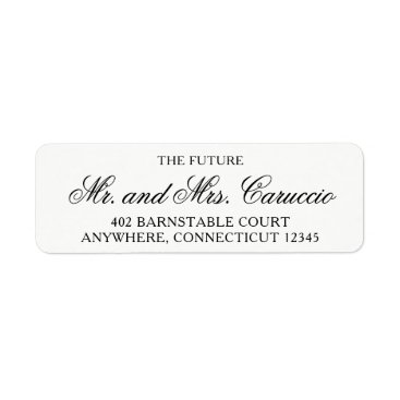 autumnandpine The Future Mr and Mrs Return Address Labels