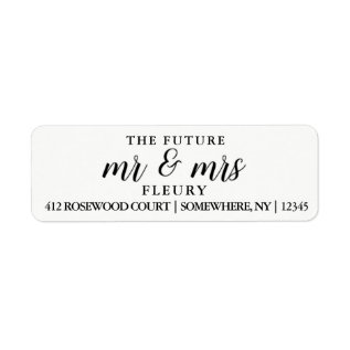 The Future Mr And Mrs Return Address Labels Small at Zazzle