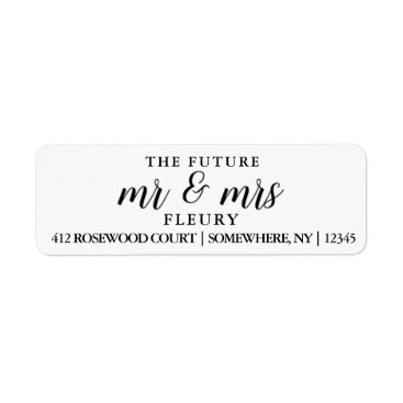 autumnandpine The Future Mr and Mrs Return Address Labels Small