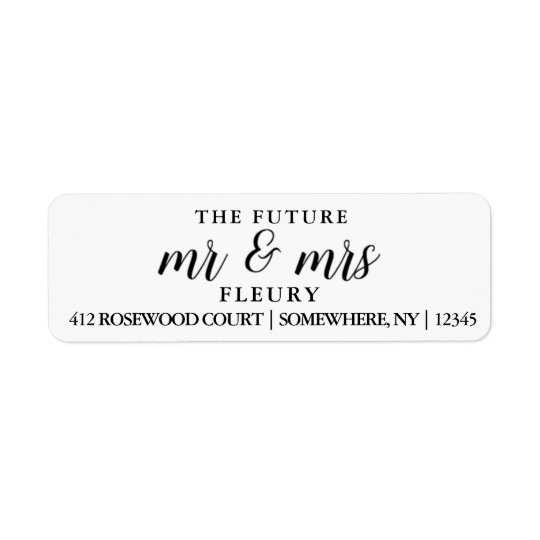 the future mr and mrs return address labels small zazzle com