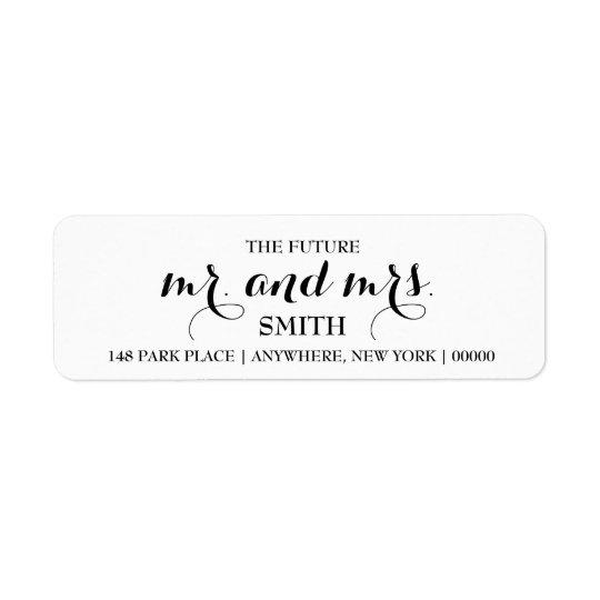 the future mr mrs return address labels zazzle com