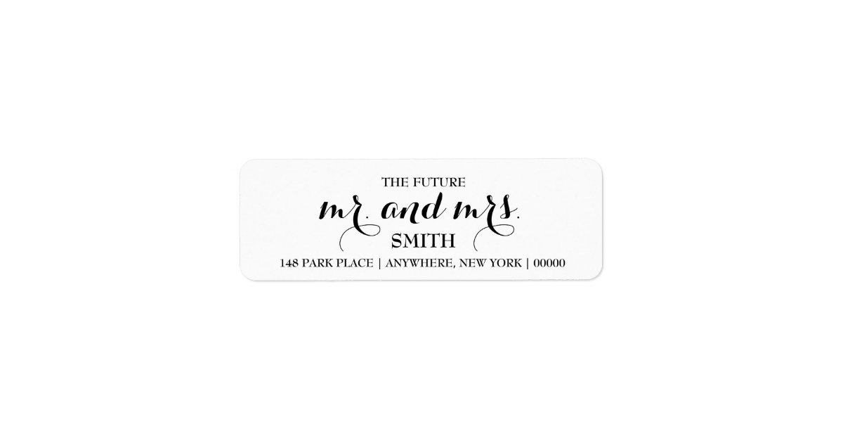 The Future Mr Amp Mrs Return Address Labels Zazzle Com