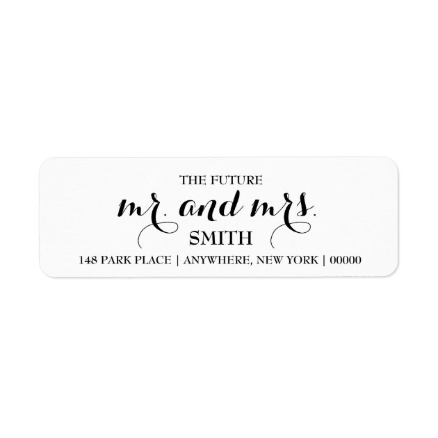 The Future Mr Mrs Return Address Labels ZazzleCom