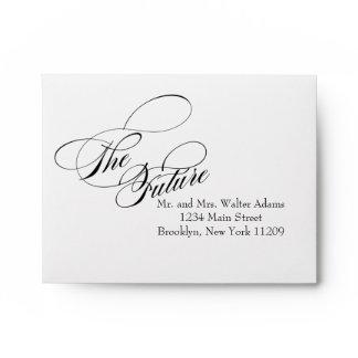 The Future Mr. & Mrs. RSVP Envelope Card Wedding
