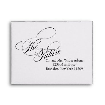 purplepaperinvites The Future Mr. & Mrs. RSVP Envelope Card Wedding