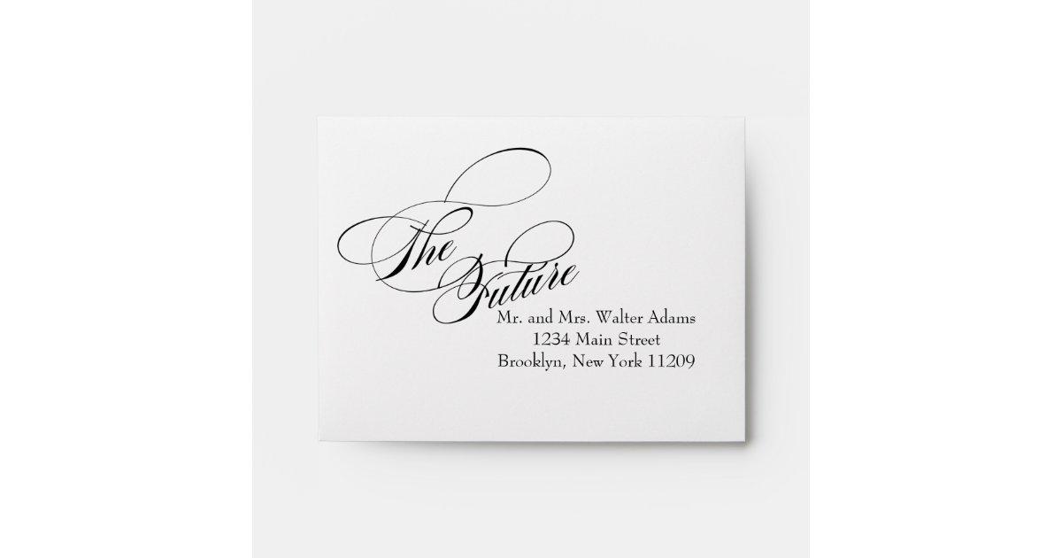 Mr And Mrs Wedding Invitation Wording: The Future Mr. & Mrs. RSVP Envelope Card Wedding