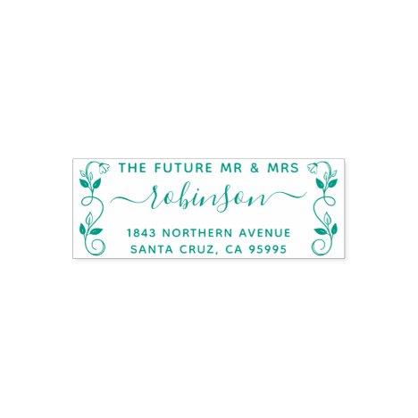 The Future Mr & Mrs Rustic Floral Return Address Self-inking Stamp