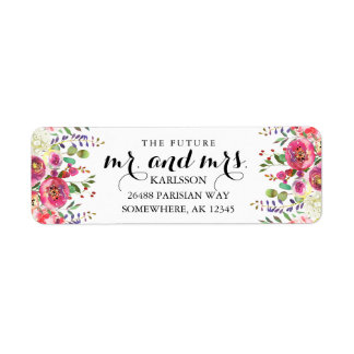 THE FUTURE MR & MRS Watercolor Address Labels