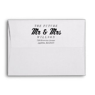 The Future Mrs and Mr 5x7 Preprinted Envelopes