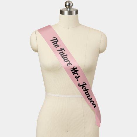 The Future Mrs. Bachelorette Sash Pink