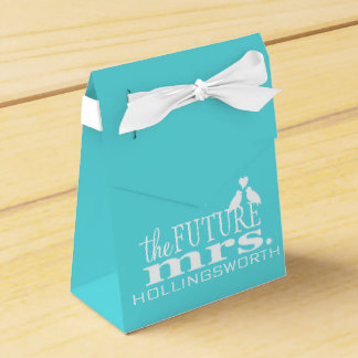 The Future Mrs. Blue and White Bridal Shower Favor Box