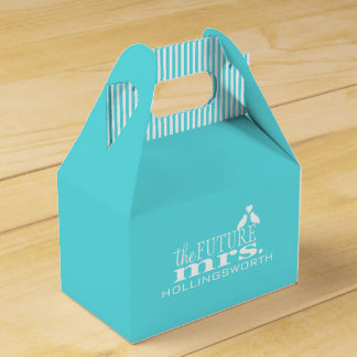 The Future Mrs.-Blue Wedding Favor Box