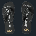 """The Future Mrs Bridal Flip Flops 