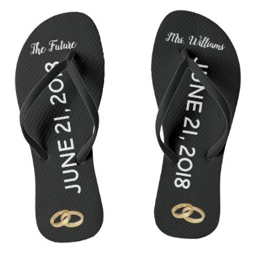 The Future Mrs Bridal Flip Flops | Custom Name