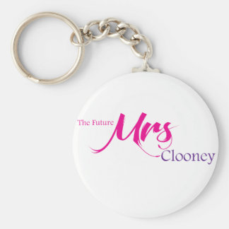 The Future Mrs Clooney Basic Round Button Keychain
