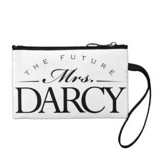 """The Future Mrs. Darcy"" Clutch Change Purse"
