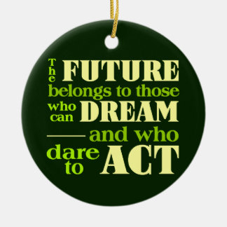 The Future ornament, customize Ceramic Ornament