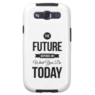 The Future Typography Quote White Galaxy SIII Case