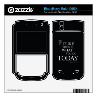 The Future Wise Motivational Quote Decals For BlackBerry