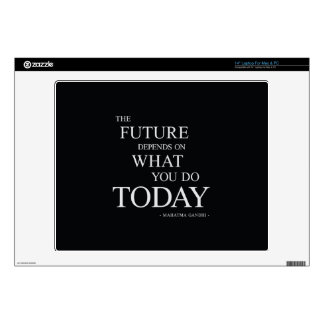 """The Future Wise Motivational Quote 14"""" Laptop Decals"""