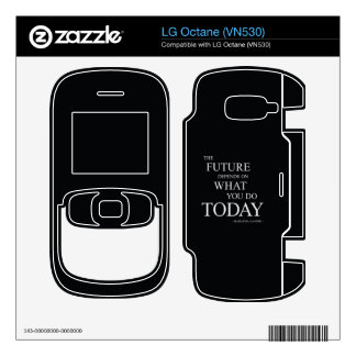 The Future Wise Motivational Quote Skin For The LG Octane