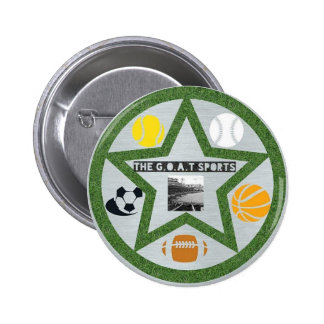 The G.O.A.T Sports Pinback Button