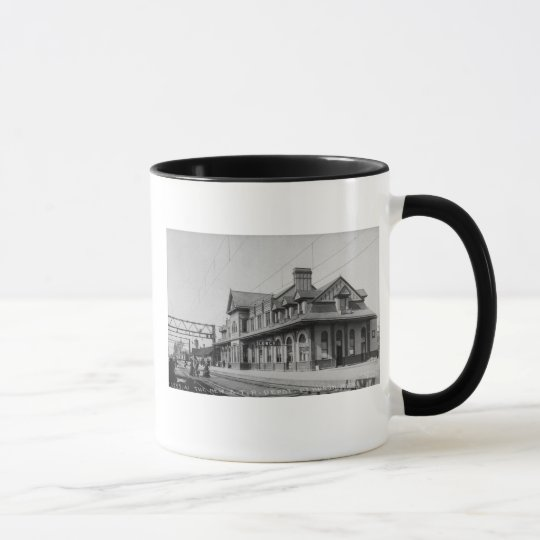 The G.T.R. Railroad Depot - Louis Pesha Mug