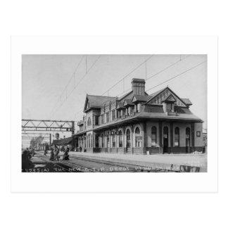The G.T.R. Railroad Depot - Louis Pesha Postcard