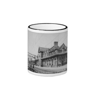 The G.T.R. Railroad Depot - Louis Pesha Ringer Mug