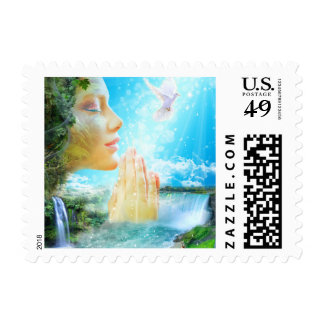 The Gaia - Spirit of the living Earth Postage Stamp