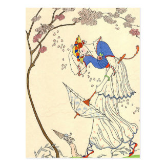 The Gale by George Barbier Postcard