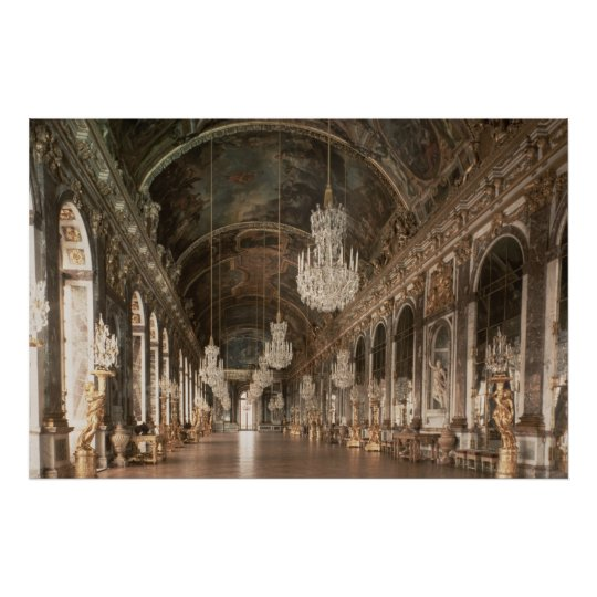 The Galerie des Glaces  1678-84 Poster