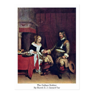 The Gallant Soldier By Borch D. J. Gerard Ter Postcard