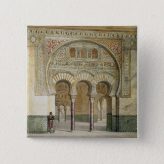 The Gallery of the Court of Lions at the Alhambra, Pinback Button