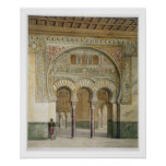 The Gallery of the Court of Lions at the Alhambra, Poster