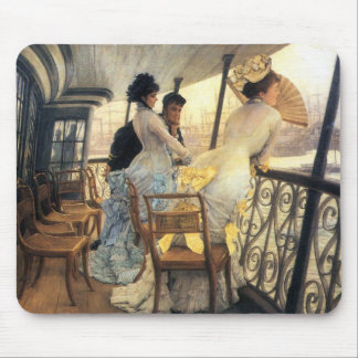 The gallery of the H.M.S. Calcutta by James Tissot Mouse Pad