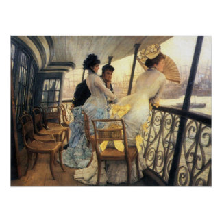 The gallery of the H.M.S. Calcutta by James Tissot Poster