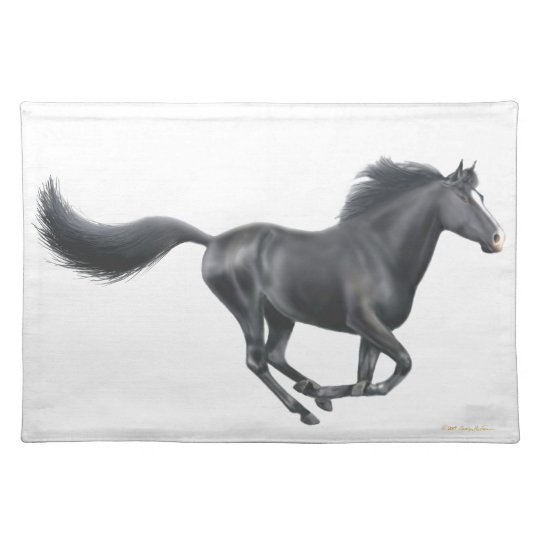 The Galloping Black Horse Placemat
