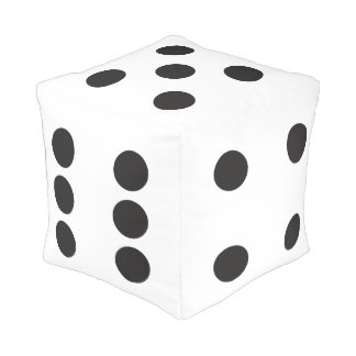 The Gambler - Black and White Dice Cube Pouf