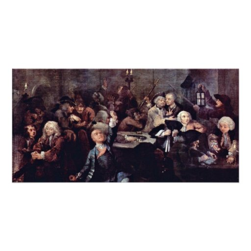 """The Gambling Den """" By Hogarth William Photo Card"""