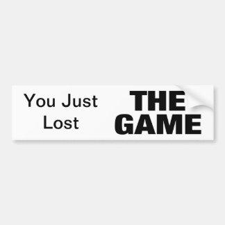 The Game Etiqueta De Parachoque