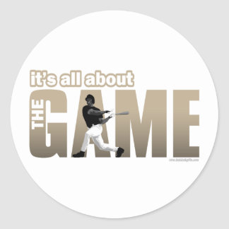 The Game... Classic Round Sticker