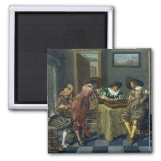The Game del backgammon Imán Cuadrado