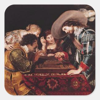 The Game del backgammon Pegatina Cuadrada