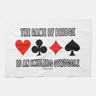 The Game del puente es una lucha sin fin Toallas De Cocina