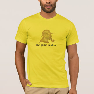 the game is afoot  mystery tee