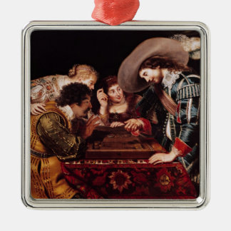 The Game of Backgammon Metal Ornament